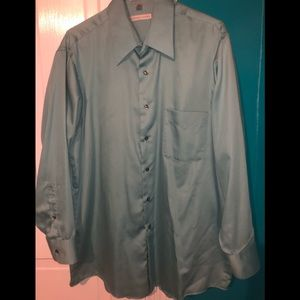 Men's light aqua colored dress shirt